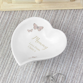Personalised Secret Garden Ceramic Ring Dish