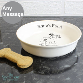 Personalised The Snowdog Pet Bowl