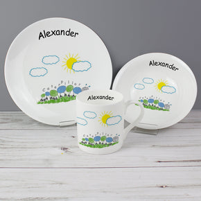 Personalised Caterpillar Breakfast Set