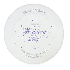 Personalised Wedding Day Plate