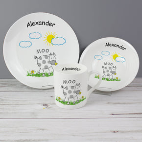 Personalised Farmyard Breakfast Set
