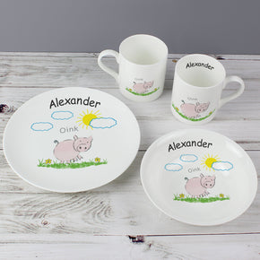 Personalised Oink Breakfast Set