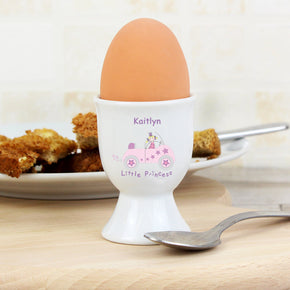 Personalised Little Princess in Car Egg Cup