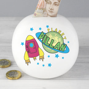Personalised Space Money Box