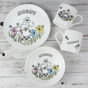 Personalised Farmyard Character Breakfast Set