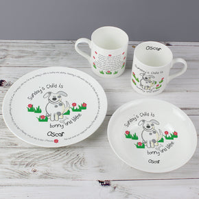 Personalised Days of the Week Poem Breakfast Set