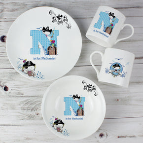 Personalised Pirate Letter Breakfast Set