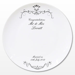 Personalised Ornate Swirl Message Plate