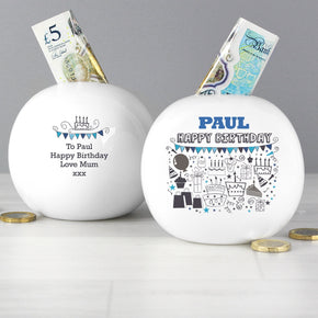 Personalised Birthday Money Box