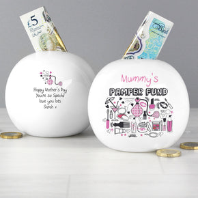 Personalised Pamper Money Box