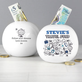 Personalised Travel Money Box