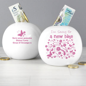 Personalised Saving For... Money Box