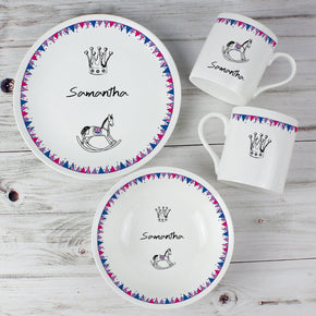 Personalised Royal Baby Breakfast Set
