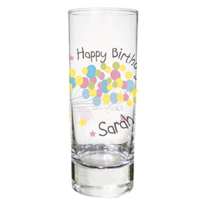 Personalised Birthday Balloon Shot Glass