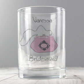 Personalised Wedding Bag Juice Glass
