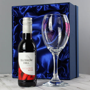 Personalised Love & Kisses Red Wine Set