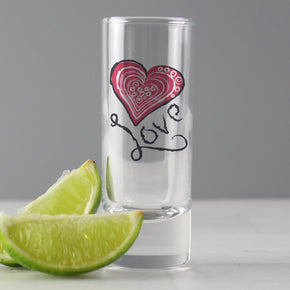 Personalised Love Shot Glass