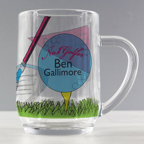 Personalised No1 Golfer Pint Tankard