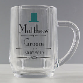 Personalised Decorative Wedding Male Tankard