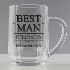 Personalised Mr & Mrs Best Man Tankard