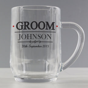 Personalised Mr & Mrs Groom Tankard