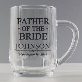 Personalised Mr & Mrs Father of the Bride Tankard