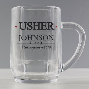 Personalised Mr & Mrs Usher Tankard