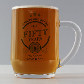 Personalised Birthday Cheers and Beers Tankard