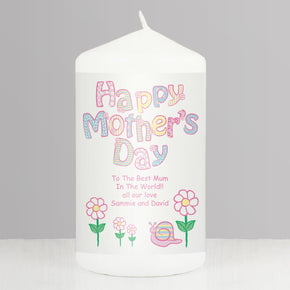 Personalised Daisy Happy Mothers Day Candle