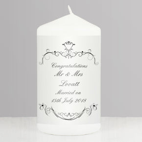 Personalised Ornate Swirl Candle