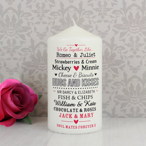 Personalised We Go Together Like.... Candle
