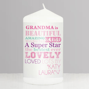 Personalised She Is... Candle