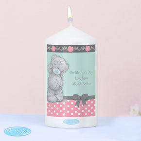 Personalised 'Me To You' Pastel Polka Dot Candle