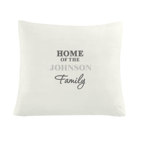 Personalised The Family Cushion Cover