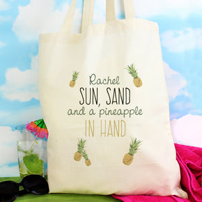 Personalised Pineapple Cotton Bag