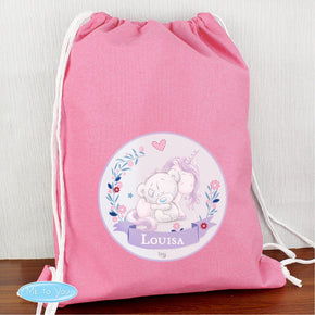 Personalised Tiny Tatty Teddy Unicorn Swim & School Bag