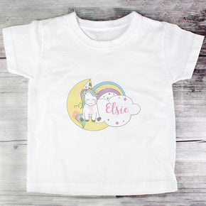 Personalised Baby Unicorn T shirt 2-3 Years