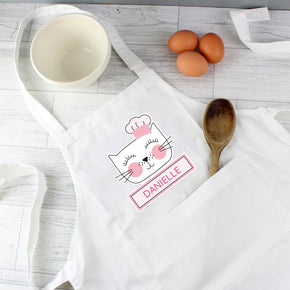 Personalised Cat Children's Apron