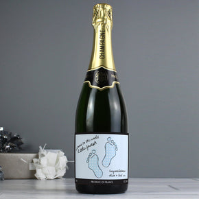 Personalised Baby Footprint Champagne
