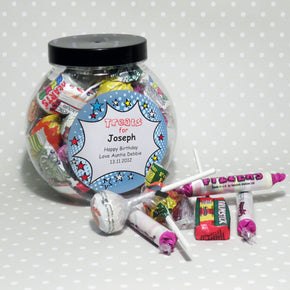Personalised Comic Book Sweet Jar