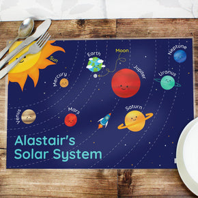 Personalised Solar System Placemat