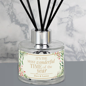 Personalised Wonderful Time of The Year Christmas Reed Diffuser