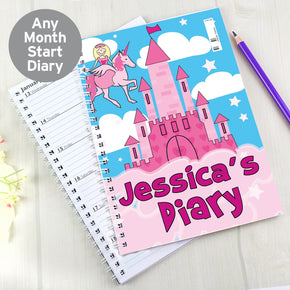 Personalised Princess & Unicorn - A5 Diary