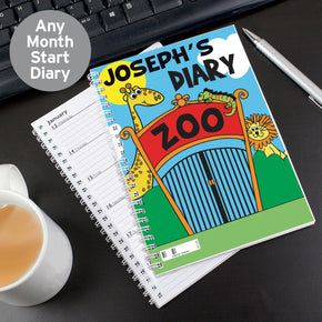 Personalised Zoo - A5 Diary