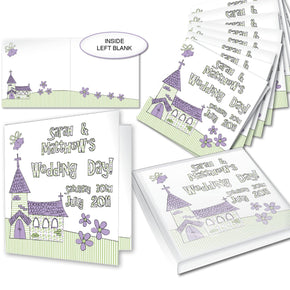 Personalised Wedding Church Pack of 20 Invitations