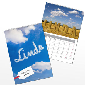 Personalised Great Outdoors A4 Wall Calendar