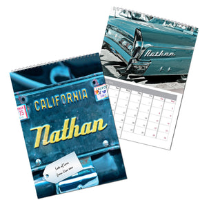 Personalised Car Geeks A4 Wall Calendar