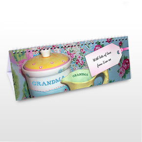 Personalised Grandma Desk Calendar