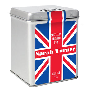 Personalised Union Jack Tea & Tin