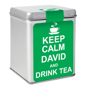 Personalised Keep Calm Tea & Tin